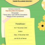 Pendaftaran Calon Peserta LDKS TP. 2020/2021